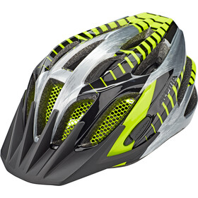 Alpina FB Jr. 2.0 Helm Jugend black-steelgrey-neon